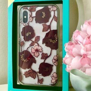 🎀Kate Spade ♠️ Plum Dreamy Floral IPhone X Case